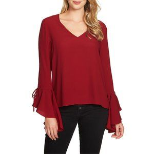 NWT Nordstrom 1.STATE Cascade Sleeve Blouse Top